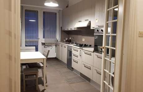 cucina progetto nuovo pavimento in grès porcellanato