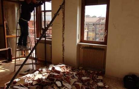 ampliamento camera ragazzi demolizione tramezzo