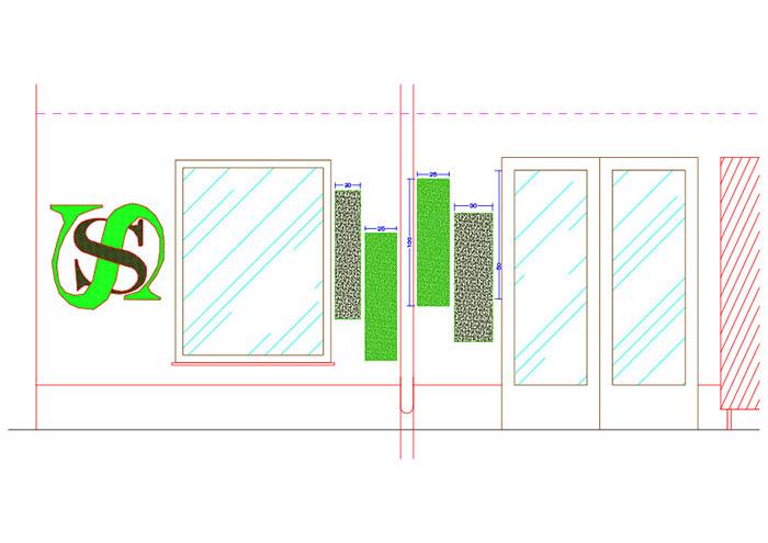 autocad logo e verde verticale sottosopra