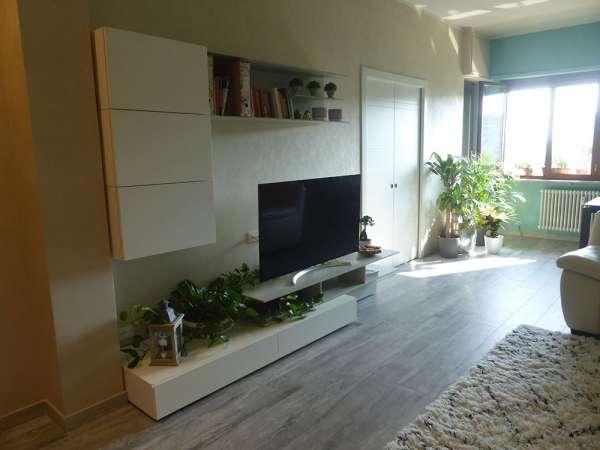 salone progetto nuovo pavimento in grès porcellanato