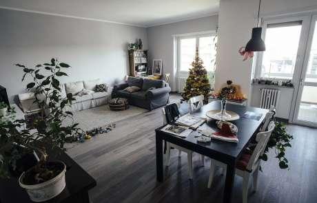 casa circolare ristrutturazione soggiorno open space