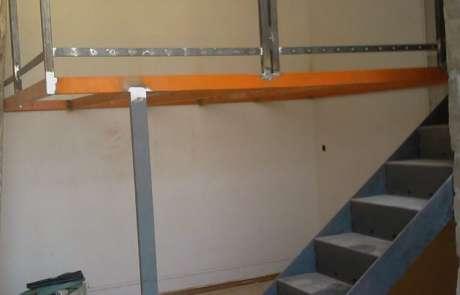progetto nuovo struttura in acciaio per soppalco zona notte