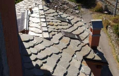 totale rifacimento copertura casa Aosta pietra local in lose