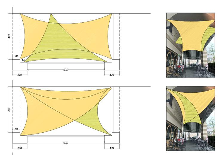 idee progettuali vele portico